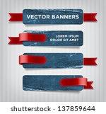 vector vintage blue distressed... | Shutterstock .eps vector #137859644