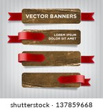 vector vintage distressed... | Shutterstock .eps vector #137859668