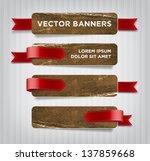 vector vintage distressed... | Shutterstock .eps vector #137859668