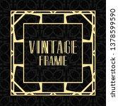 vintage ornamental modern art... | Shutterstock .eps vector #1378599590