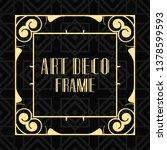 vintage ornamental modern art... | Shutterstock .eps vector #1378599593