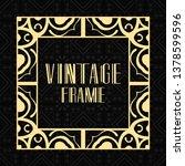 vintage ornamental modern art... | Shutterstock .eps vector #1378599596