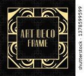 vintage ornamental modern art... | Shutterstock .eps vector #1378599599