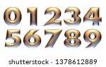 3d alphabet  numbers  bronze... | Shutterstock . vector #1378612889
