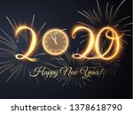 2020 new year shiny vector... | Shutterstock .eps vector #1378618790