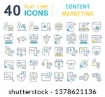 set of vector line icons of... | Shutterstock .eps vector #1378621136