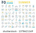 set of vector line icons of... | Shutterstock .eps vector #1378621169
