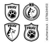 chevron police dog | Shutterstock .eps vector #1378634453