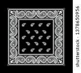 biker bandana  pattern with... | Shutterstock .eps vector #1378650956