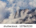 clouds over rocky cliffs in the ... | Shutterstock . vector #137865233