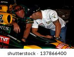 SAO PAULO, BRAZIL - MAY 5 : Tony Kanaan is scheduled to make his milestone 200th consecutive Indycar start May 5, 2013 in Sao Paulo - a streak that began more than a decade ago. - stock photo