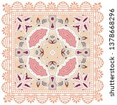 decorative colorful ornament on ... | Shutterstock .eps vector #1378668296