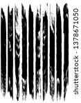 dry brush strokes. black... | Shutterstock .eps vector #1378671050