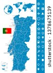 portugal map and map navigation ... | Shutterstock .eps vector #1378675139