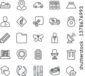 thin line icon set   baggage... | Shutterstock .eps vector #1378676993