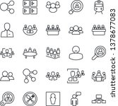 thin line icon set   spoon and... | Shutterstock .eps vector #1378677083