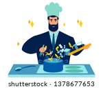 cook businessman prepares... | Shutterstock .eps vector #1378677653