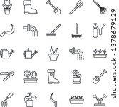 thin line icon set   job vector ... | Shutterstock .eps vector #1378679129