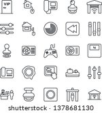 thin line icon set   baggage... | Shutterstock .eps vector #1378681130