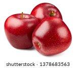 apple isolated on white. apple... | Shutterstock . vector #1378683563