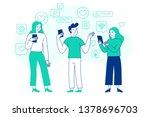 vector illustration in flat... | Shutterstock .eps vector #1378696703