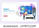 digital cable tv service vector ... | Shutterstock .eps vector #1378711109