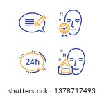 24h service  face verified and... | Shutterstock .eps vector #1378717493