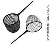 vector fishing net black icon  | Shutterstock .eps vector #137872148