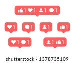 social media notification icon. ... | Shutterstock .eps vector #1378735109