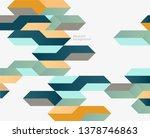 bright vintage geometric... | Shutterstock .eps vector #1378746863