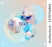 fluid poster design. abstract... | Shutterstock .eps vector #1378746866