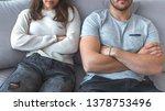 unhappy couple not talking... | Shutterstock . vector #1378753496