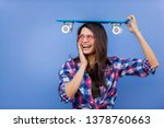 portrait of stylish pretty girl ... | Shutterstock . vector #1378760663