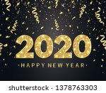 2020 happy new year background... | Shutterstock .eps vector #1378763303