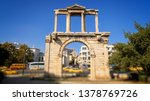 hadrians gate in busy downtown... | Shutterstock . vector #1378769726