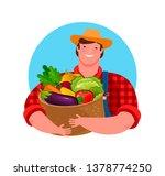 fresh vegetables  food logo.... | Shutterstock .eps vector #1378774250