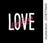 hand drawn lettering love is in ... | Shutterstock .eps vector #1378774643