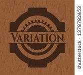 variation realistic wooden... | Shutterstock .eps vector #1378782653