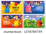 back to school banner set.... | Shutterstock .eps vector #1378784759