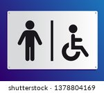 male and handicapped bathroom... | Shutterstock .eps vector #1378804169