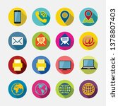 business card icon set. web...   Shutterstock .eps vector #1378807403