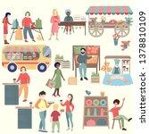 Sunday Market Poster. Textured...