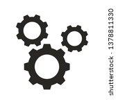 cogwheel gear mechanism vector... | Shutterstock .eps vector #1378811330