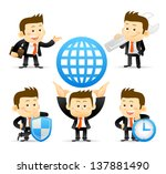 businessman set | Shutterstock .eps vector #137881490
