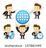 businessman set | Shutterstock .eps vector #137881490