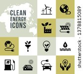 set of clean energy vector... | Shutterstock .eps vector #1378815089
