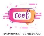 cool coloful speech banner... | Shutterstock .eps vector #1378819730