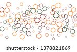 geometric background. simple... | Shutterstock .eps vector #1378821869