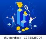 isometric business team success ... | Shutterstock .eps vector #1378825709