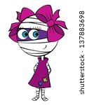 illustration of a mummy girl | Shutterstock .eps vector #137883698